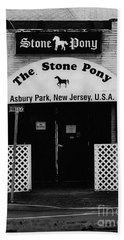The Stone Pony Hand Towel by Colleen Kammerer