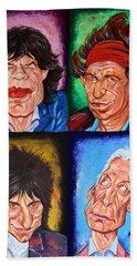 The Rolling Stones Hand Towel by Dan Haraga