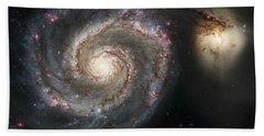 The Whirlpool Galaxy M51 And Companion Hand Towel by Adam Romanowicz