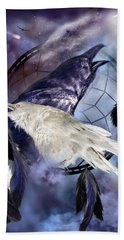 The White Raven Hand Towel by Carol Cavalaris