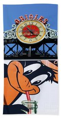 Thirsty Oriole Hand Towel by James Brunker
