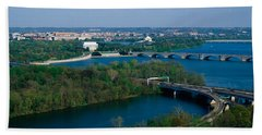 This Is An Aerial View Of Washington Hand Towel by Panoramic Images