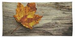Three Leaves Hand Towel by Scott Norris