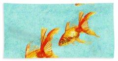 Three Little Fishes Hand Towel by Jane Schnetlage