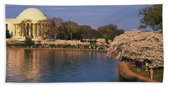 Tidal Basin Washington Dc Hand Towel by Panoramic Images