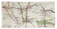 Transport Map Of London Hand Towel by English School
