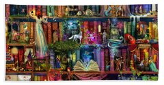 Fairytale Treasure Hunt Book Shelf Hand Towel by Aimee Stewart