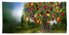 Tree Of Abundance Hand Towel by Carol Cavalaris