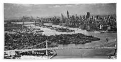 Triborough Bridge Is Completed Hand Towel by Underwood Archives