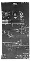 Trombone Design Hand Towel by Dan Sproul