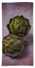 Two Artichokes Hand Towel by Garry Gay