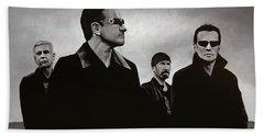 U2 Hand Towel by Paul Meijering