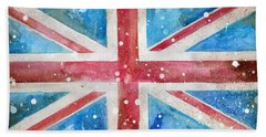 Union Jack Hand Towel by Sean Parnell