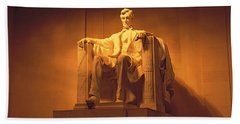 Usa, Washington Dc, Lincoln Memorial Hand Towel by Panoramic Images
