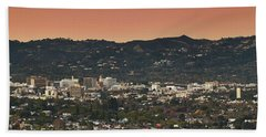 View Of Buildings In City, Beverly Hand Towel by Panoramic Images