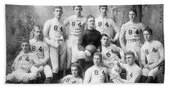 Vintage Football Circa 1900 Hand Towel by Jon Neidert