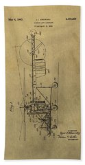 Vintage Helicopter Patent Hand Towel by Dan Sproul