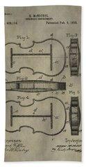 Violin Patent Hand Towel by Dan Sproul