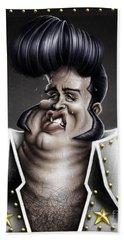 Viva Las Vegas Elvis Hand Towel by Andre Koekemoer