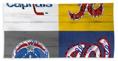Washington Dc Sports Fan Recycled Vintage License Plate Art Capitals Redskins Wizards Nationals Hand Towel by Design Turnpike
