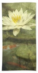 Water Lily Hand Towel by Scott Norris