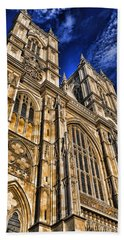 Westminster Abbey West Front Hand Towel by Stephen Stookey
