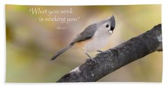 What You Seek Hand Towel by Bill Wakeley