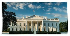 White House Sunrise Hand Towel by Steve Gadomski