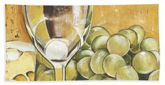 White Wine And Cheese Hand Towel by Debbie DeWitt