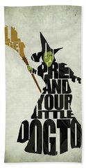 Wicked Witch Of The West Hand Towel by Ayse Deniz