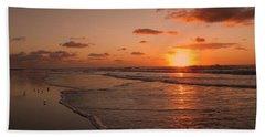 Wildwood Beach Sunrise II Hand Towel by David Dehner