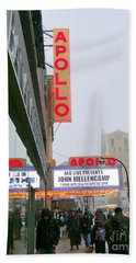 Wintry Day At The Apollo Hand Towel by Ed Weidman