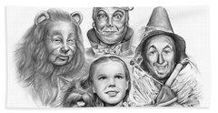 Wizard Of Oz Hand Towel by Greg Joens