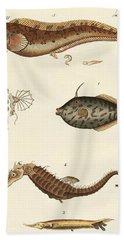 Wonderful Fish Hand Towel by German School