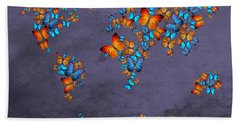World Map  Hand Towel by Mark Ashkenazi