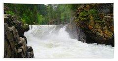 Yaak Falls Hand Towel by Jeff Swan