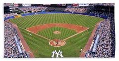 Yankee Stadium Hand Towel by Allen Beatty