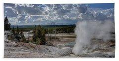 Hand Towel featuring the photograph Yellowstone's Norris Geyser Basin by Bill Gabbert