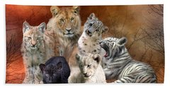 Young And Wild Hand Towel by Carol Cavalaris