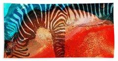 Zebra Love - Art By Sharon Cummings Hand Towel by Sharon Cummings