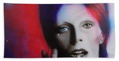 David Bowie - ' Ziggy Stardust ' Hand Towel by Christian Chapman