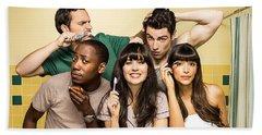 Zooey Deschanel New Girl Tv Show  Hand Towel by Marvin Blaine