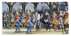 Charles I's Last Walk Hand Towel by Ron Embleton
