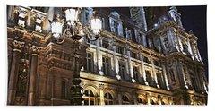 Hotel De Ville In Paris Hand Towel by Elena Elisseeva