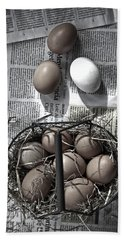 Eggs Hand Towel by Joana Kruse