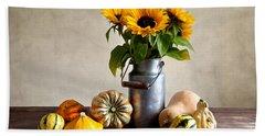 Autumn Hand Towel by Nailia Schwarz
