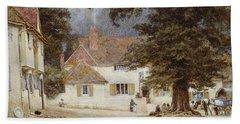 A Cart By A Village Inn Hand Towel by Helen Allingham
