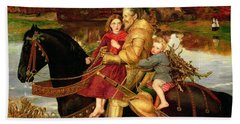 A Dream Of The Past Hand Towel by Sir John Everett Millais
