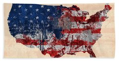 America Hand Towel by Mark Ashkenazi