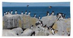 Auk Island Hand Towel by Bruce J Robinson